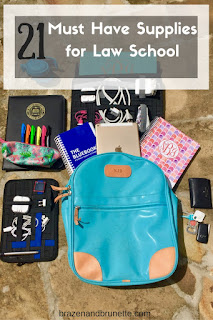 law school essential supplies | brazenandbrunette.com