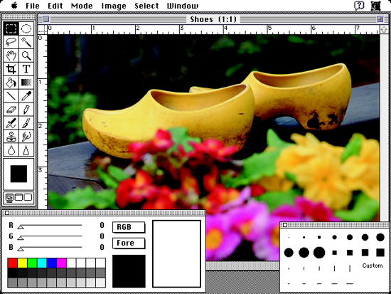 Photoshop work area 1990