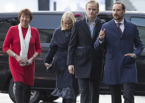 Crown Prince Haakon, Crown Princess Mette-Marit and Marius Borg Høiby attended a Christmas lunch