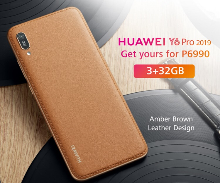 Huawei Y6 Pro 2019 Amber Brown Leather Now in PH