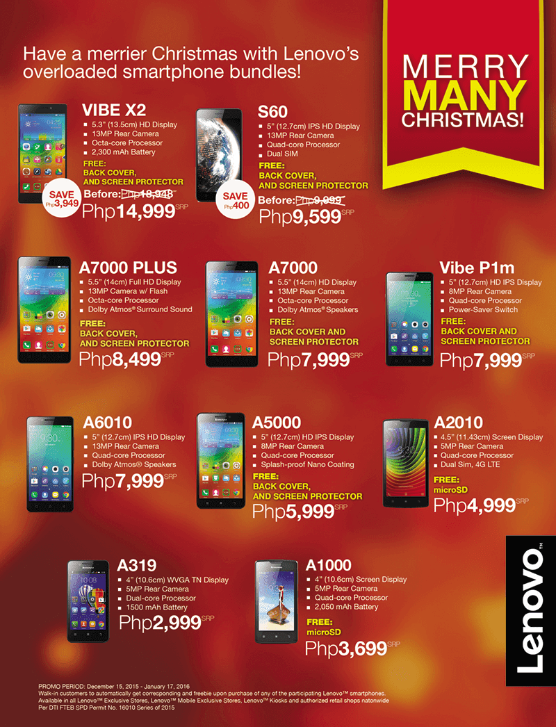 Lenovo Merry Many Christmas promo available freebies