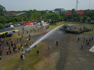 Polres Indramayu dan Kodim 0616 Gelar Simulasi Pengamanan Kota menjelang Pilkada Jabar 2018