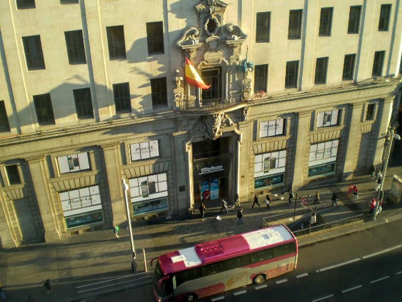 Vista da janela do Hotel Madri Espanha