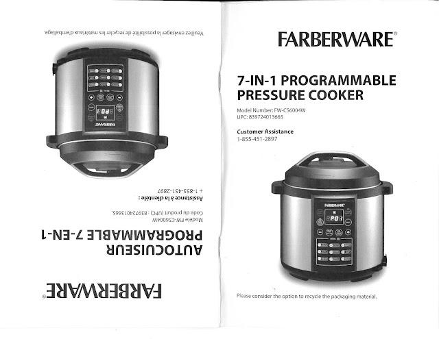 Keywords Farberware Pressure Cooker and Tags