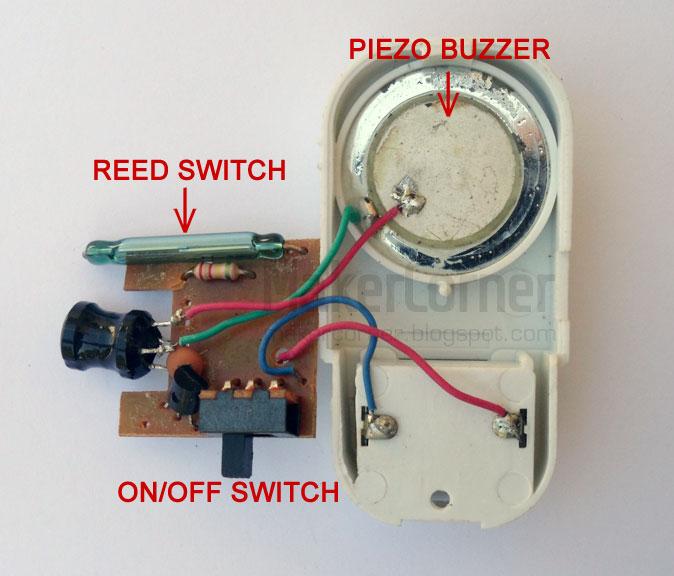 Window/door alarm components & Maker Corner: DIY refrigerator door alarm