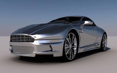 Aston Martin Chrome Luxe - Fond d'écran en Ultra HD 4K 2160p