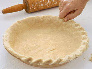 Crimping the pie crust from Walking on Sunshine Recipes