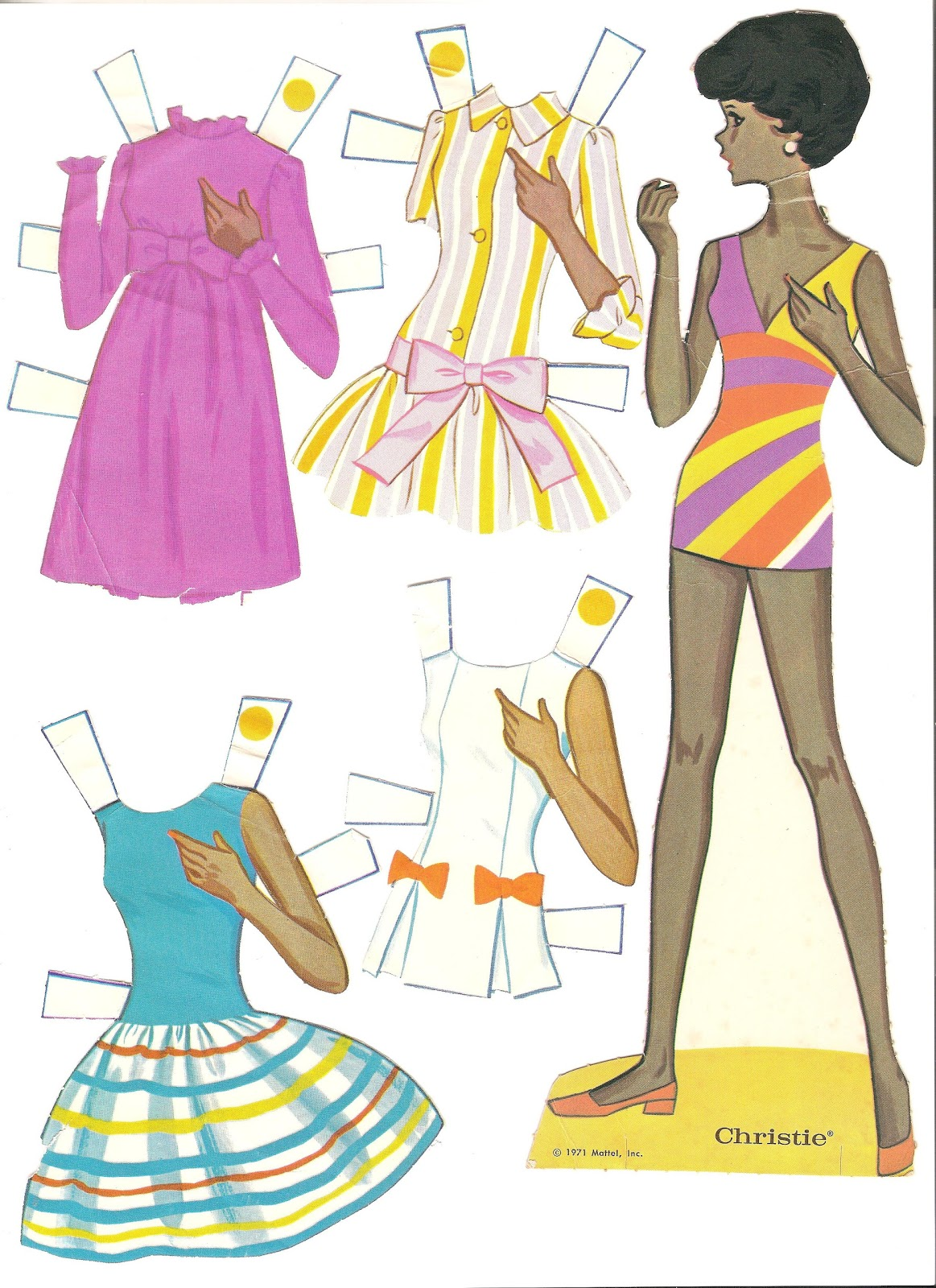 Geeky image in printable barbie paper dolls