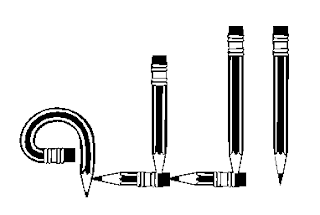 Gambar pensil yang membentuk lafadz Allah