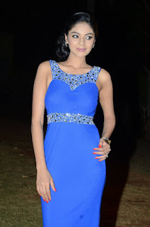 Actress Sanam Shetty Stills in Blue Long Dress at Premikudu Movie Audio Launch  0007