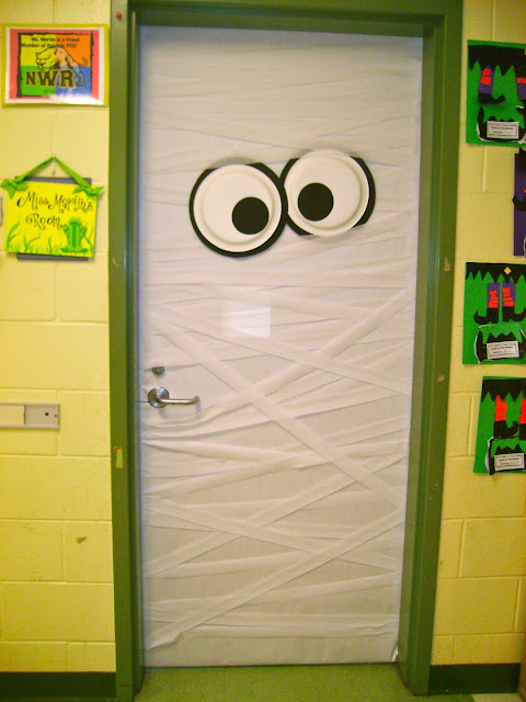 Halloween Mummy classroom door