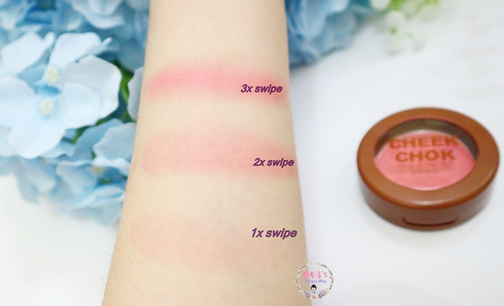 Apieu Cheek Chok Blush in Coral Compote Review Swatches #MeisUniqueBlog