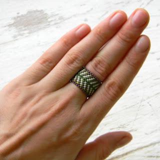 купить авторские украшения в стиле бохо кольца из бисера этно кольца женские