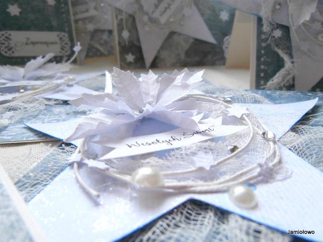 detale na zimowej kartce
