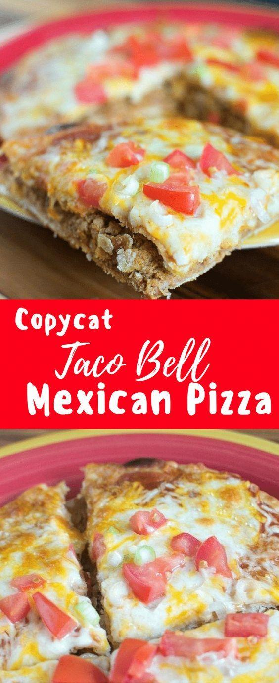 Copycat Taco Bell Mexican Pizza Recipe