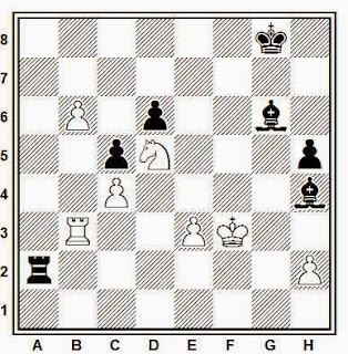 Posición de la partida de ajedrez Chejov - Bjerke (Gausdal, 1991)