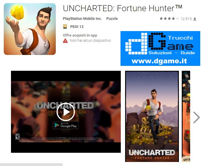Soluzioni UNCHARTED: Fortune Hunter™ di tutti i livelli | Walkthrough guide
