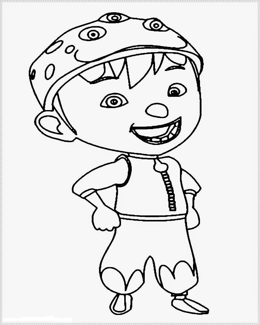 Gambar Kartun Boboiboy Untuk Diwarnai Wwwtollebildcom