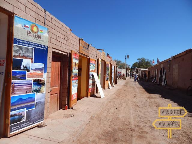 Agências para os passeios no Deserto do Atacama