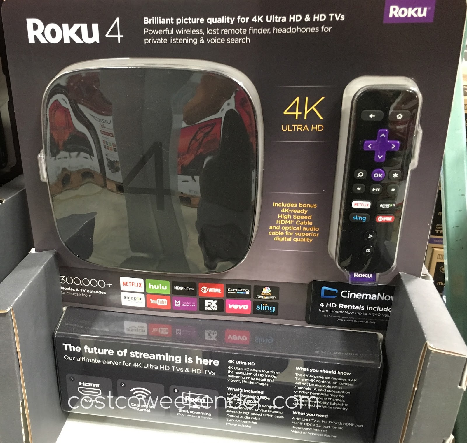 Stream to your heart's content with the Roku 4 Streaming Player With Enhanced Remote