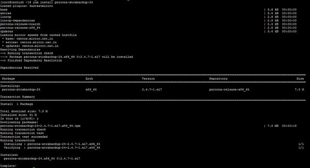 Installing XtraBackup