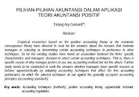 Jurnal Pilihan-Pilihan Akuntansi Dalam Aplikasi Teori Akuntansi Positif Pdf Download