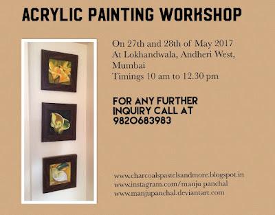 Acrylic painting workshop at Lokhandwala, Andheri west, Mumbai