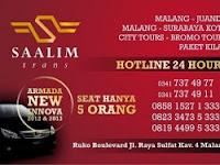 Jadwal Shuttle SaalimTrans Malang - Juanda PP