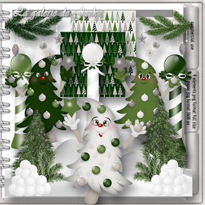 Wilma4ever Blog Train - Wintery Pines - CU freebie