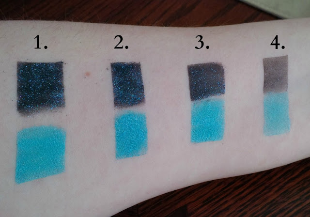 fyrinnae glitterboi eyeshadow arcane magic swatch victorian disco cosmetics sailor neptune sailor moon swatches