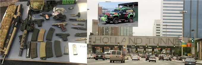"""Atrapan a Los Vigilantes """"armados hasta los dientes"""" en el Lincoln Tunnel"""