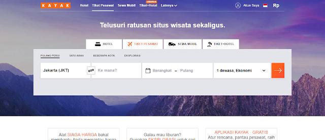 Telusuri Tiket Pesawat, Hotel, & Mobil Sewaan di KAYAK