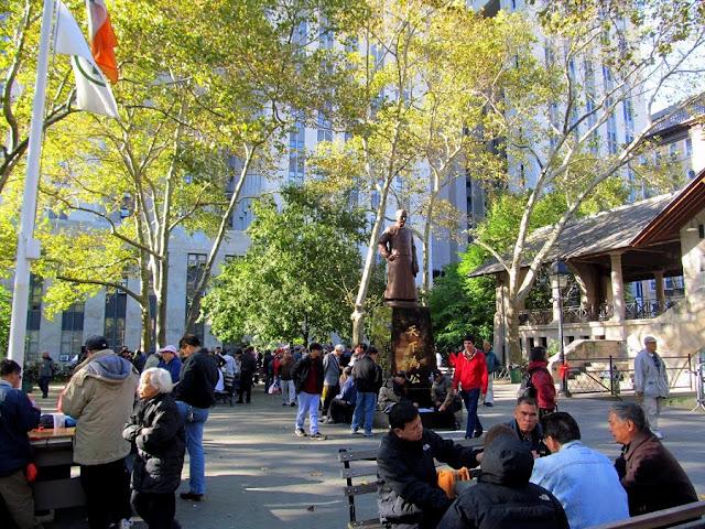 Columbus Park em Nova York