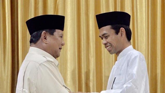 Tokoh Tionghoa: Pertemuan Prabowo Subianto-Ustaz Somad Pertanda Kemenangan 02