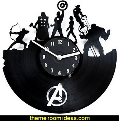Wall Clock Avengers - Decoration for Home - Vinyl Record Clocks - Avengers Clocks - Unique Clocks - Vinyl Record Wall Decor