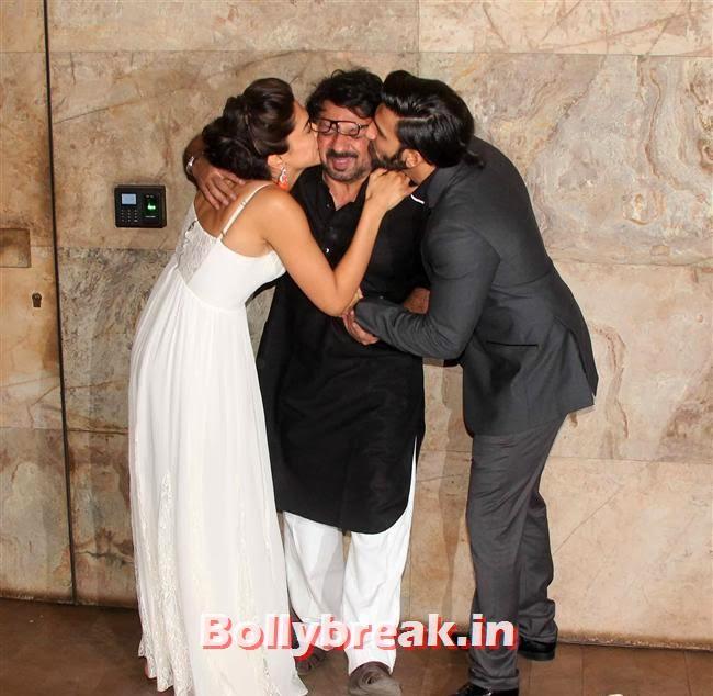 Deepika Padukone, Sanjay Leela Bhansali and Ranveer Singh, Ram Leela Premiere Photos