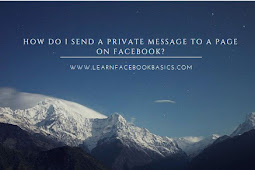 How do I send a private message to a Page on Facebook?