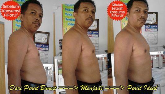 Testimonial Pelanggan FIFORLIF super fiber - solusi detox langsing, Yunus Anis 31 tahun, Dari perut buncit menjadi badan ideal