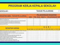 Download Program Kerja Kepala Sekolah Excel (XLS)