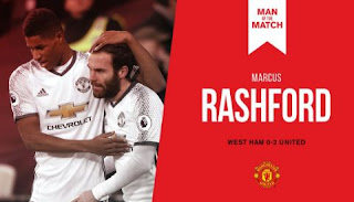 Rashford  Man of the Match West Ham vs Manchester United 0-2
