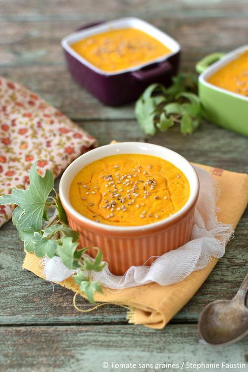Petits flans de carotte et fromage de brebis au cumin