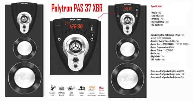 Harga Speaker Aktif Polytron PAS 37 XBR