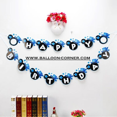 Bunting Banner HAPPY BIRTHDAY Motif Mickey Mouse (NEW DESIGN)