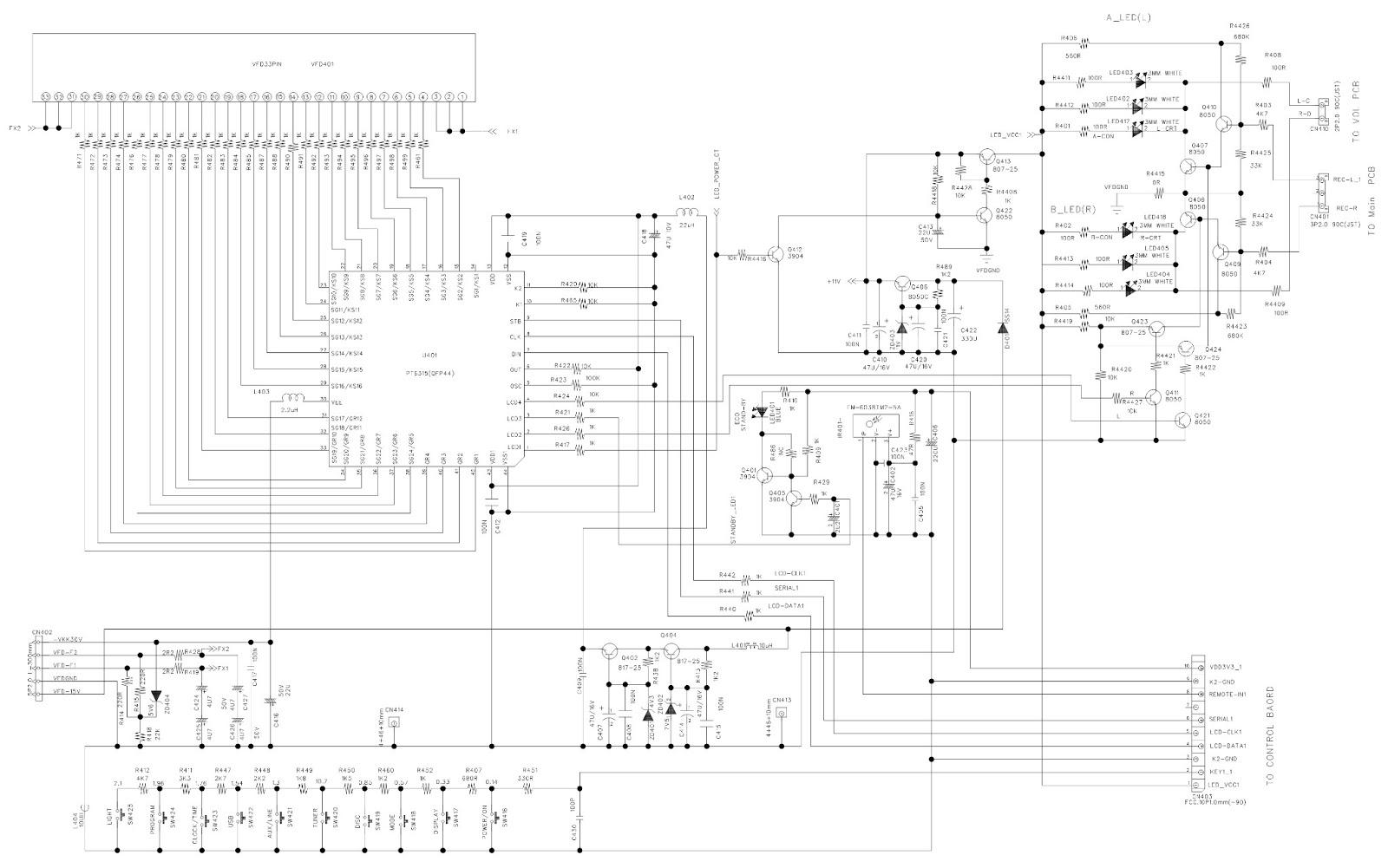MAIN BOARD & DISPLAY BOARD  SCHEMATIC [Circuit Diagram