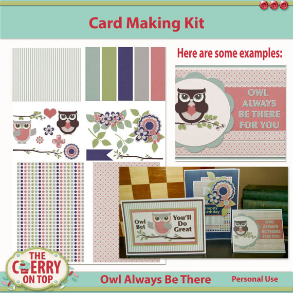 card making kit, Owl Always Love You