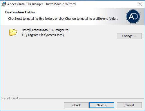 AccessData FTK Imager, Percorso di installazione