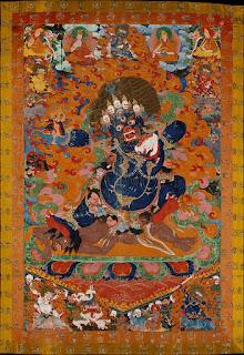 Yama, conocido en Tíbet como Gshin rje, es la deidad de la muerte y personificación de la impermanencia.