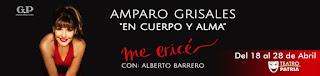 ME ERICÉ por Amparo Grisales regresa al Teatro Patria Bogotá