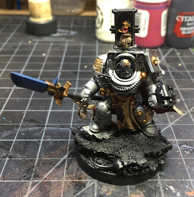 Grey Knight Brother Captain WIP gold details front