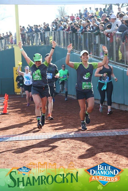 Shamrock'n Half Marathon finish